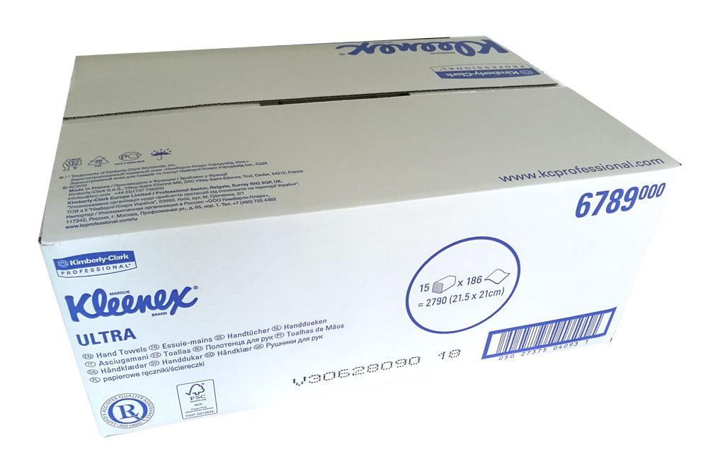 KLEENEX Ultra 6789 | Handtücher 21,5 x 21 cm | 2-lagig | 2790 Tücher | weiß