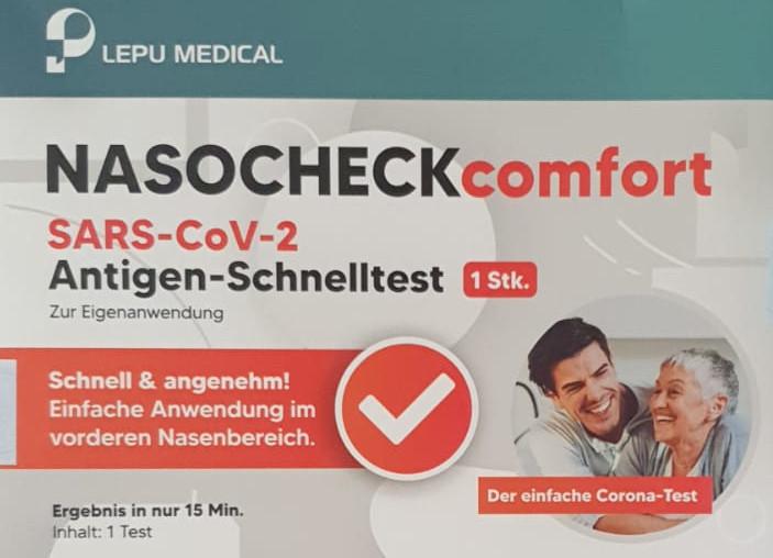 LEPU NASOCHECKcomfort SARS-CoV-2-Antigen-Schnelltest (einzeln verpackt)