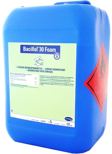 Bacillol 30 Foam   Schnelldesinfektionsmittel   Geringalkoholisch   750 ml / 5 Liter