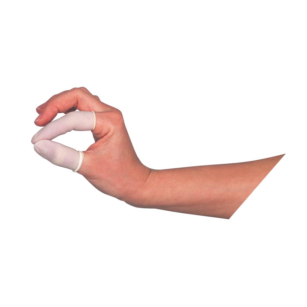 Unigloves Latex-Fingerlinge | 100 Stück | Größe S