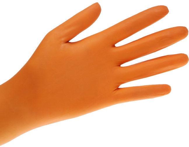Med-Comfort Style Orange | Nitril Handschuhe  | 100 Stück | Orange | Größe  L