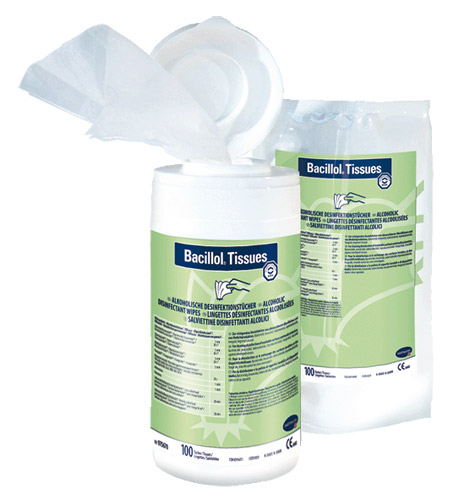 Bacillol Tissues | Spenderdose | 22,5 x 13,9 cm | 100 Tücher