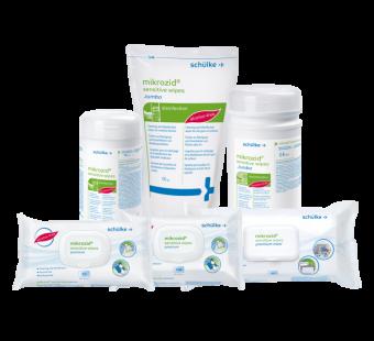 Mikrozid Sensitive Wipes Premium | Alkoholfreie Schnelldesinfektion | versch. Größen