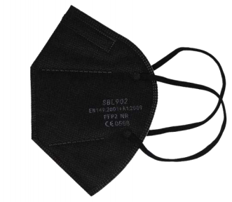 DIWAMEDICAL FFP2 NR Partikelfiltrierende Halbmaske (Faltmaske) SBL902 schwarz - (20 Stück)