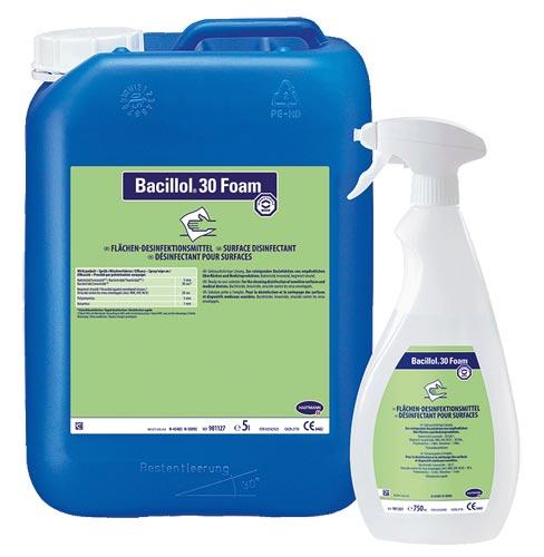 Bacillol 30 Foam | Schnelldesinfektionsmittel | Geringalkoholisch |  5 Liter