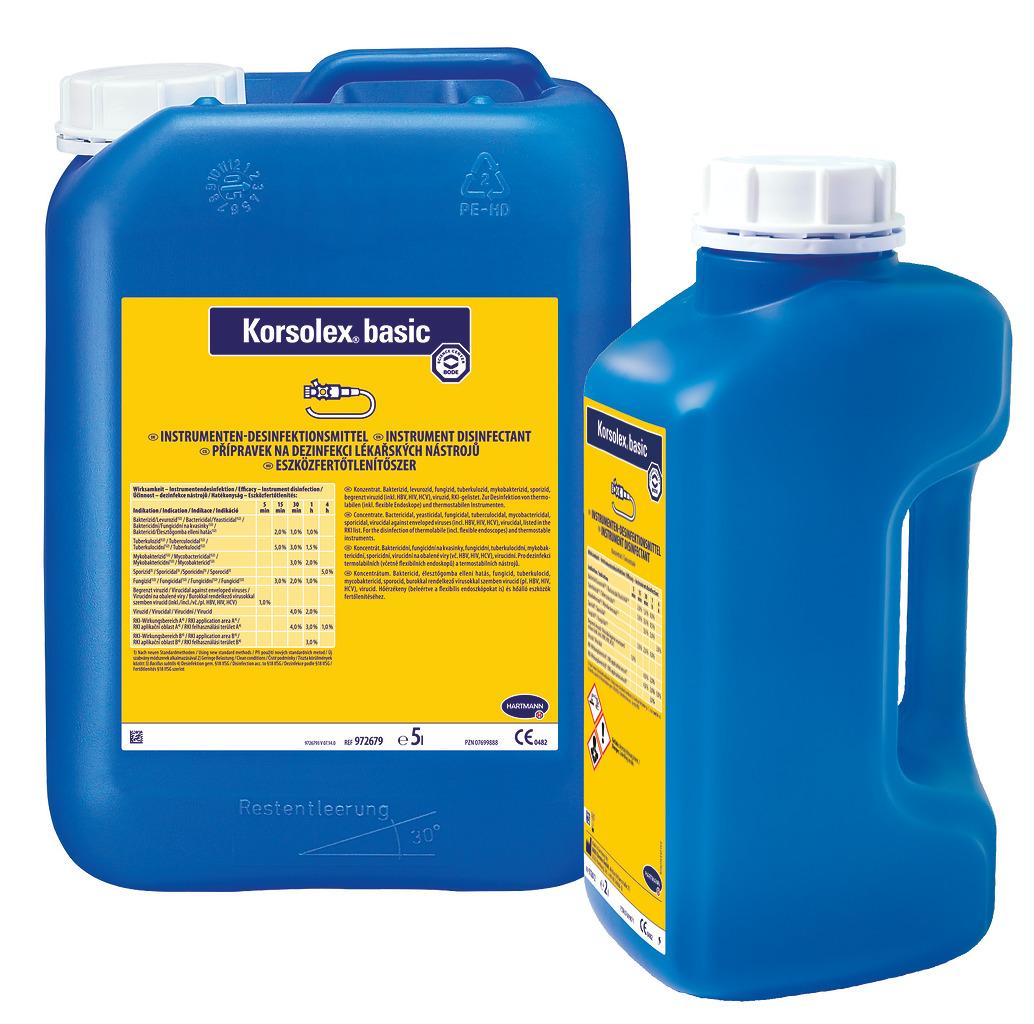 Hartmann | Korsolex basic | Aldehydisches Desinfektionsmittel | 5 Liter