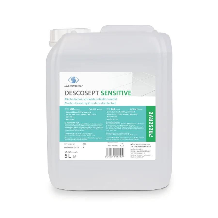 Descosept Sensitive | Schnelldesinfektionsmittel | 5 Liter / 10 Liter