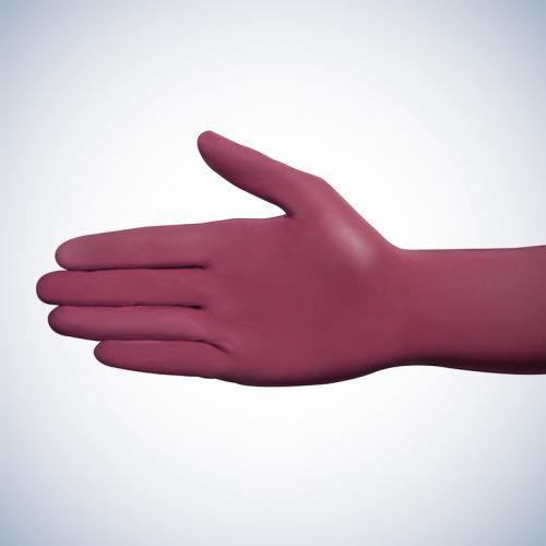 Med-Comfort Style Grape | Nitril Handschuhe  | 100 Stück | Weinrot | Größe XL