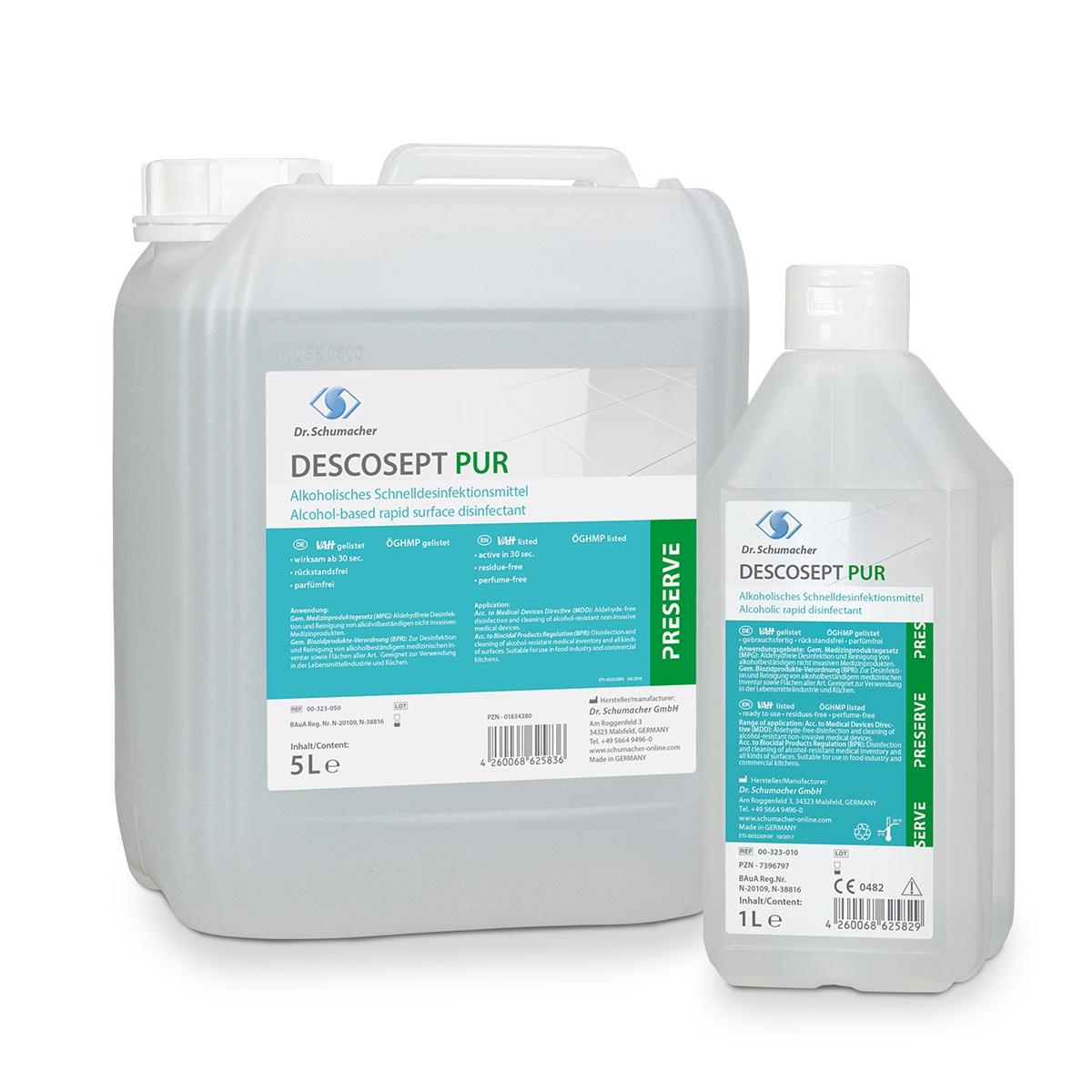 Descosept Pur | Schnelldesinfektionsmittel | 5 l