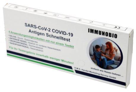 Immunobio Antigentest Nasopharyngeal, Oropharyngeal, Nasal, Saliva - (20 Stück/Packung)