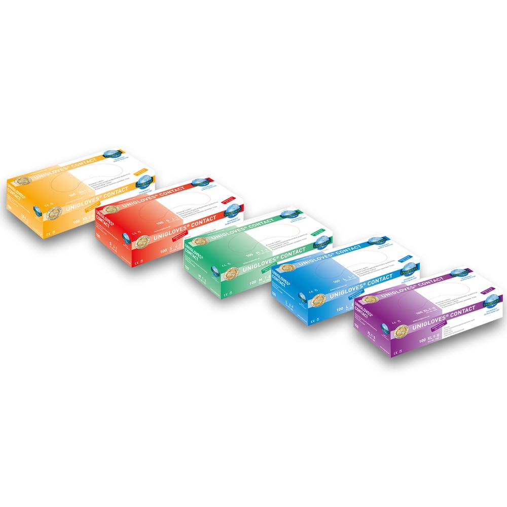 Unigloves Contact | Latexhandschuhe | 100 Stück | Größe XS