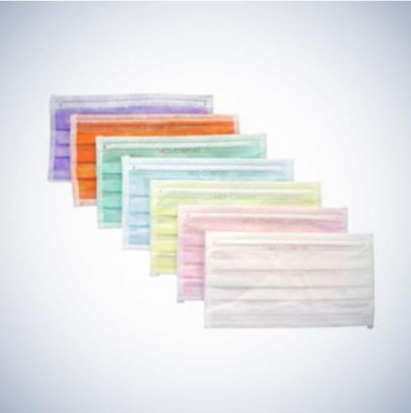 AMPRI Med-Comfort Vlies-Mundschutz Einmalmaske | 50 Stück | blau