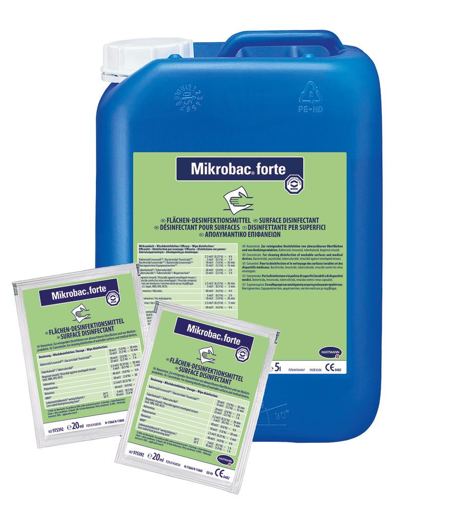 Hartmann   Mikrobac forte   Flächen-Desinfektionsreiniger   250 x 20 ml