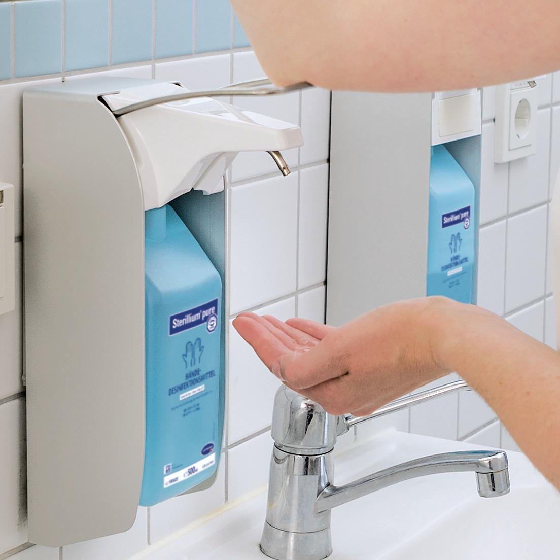 BODE Eurospender 1 plus | Spender mit kurzem Armhebel | 1 Liter