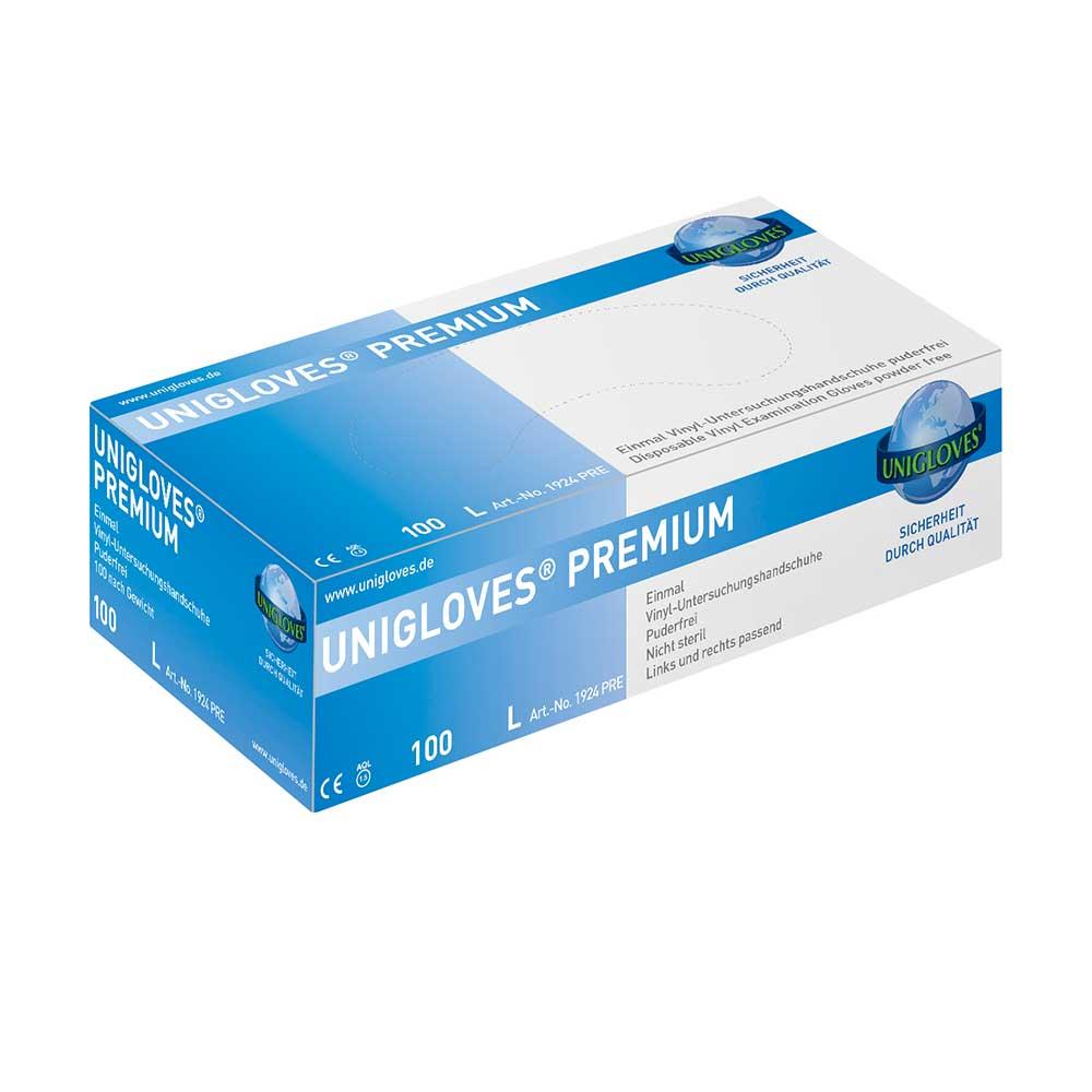 Unigloves Premium | Vinylhandschuhe | 100 Stück | Größe M