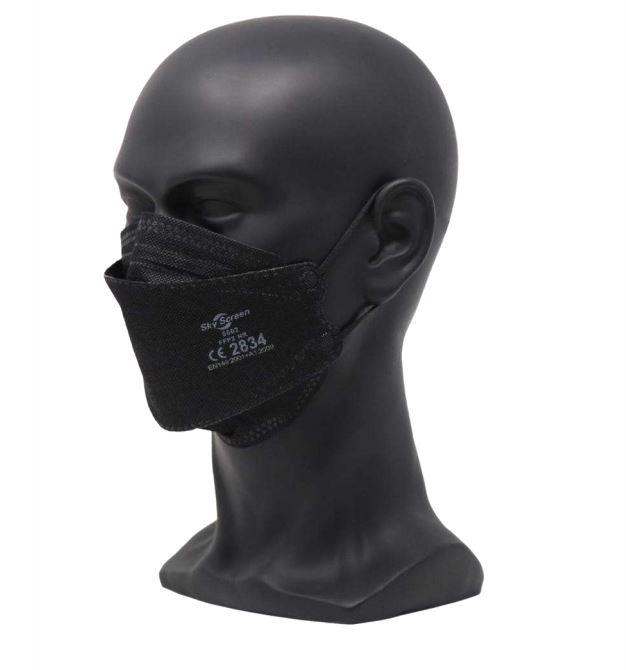 DIWAMEDICAL SkyScreen FFP2 NR 3D Atemschutzmaske 8862 - schwarz (20 Stück)