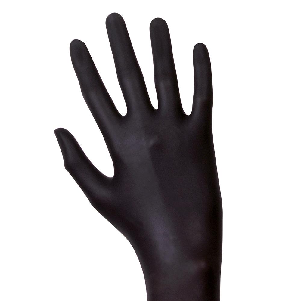 Unigloves Black Latex   Latexhandschuhe   100 Stück   Größe L