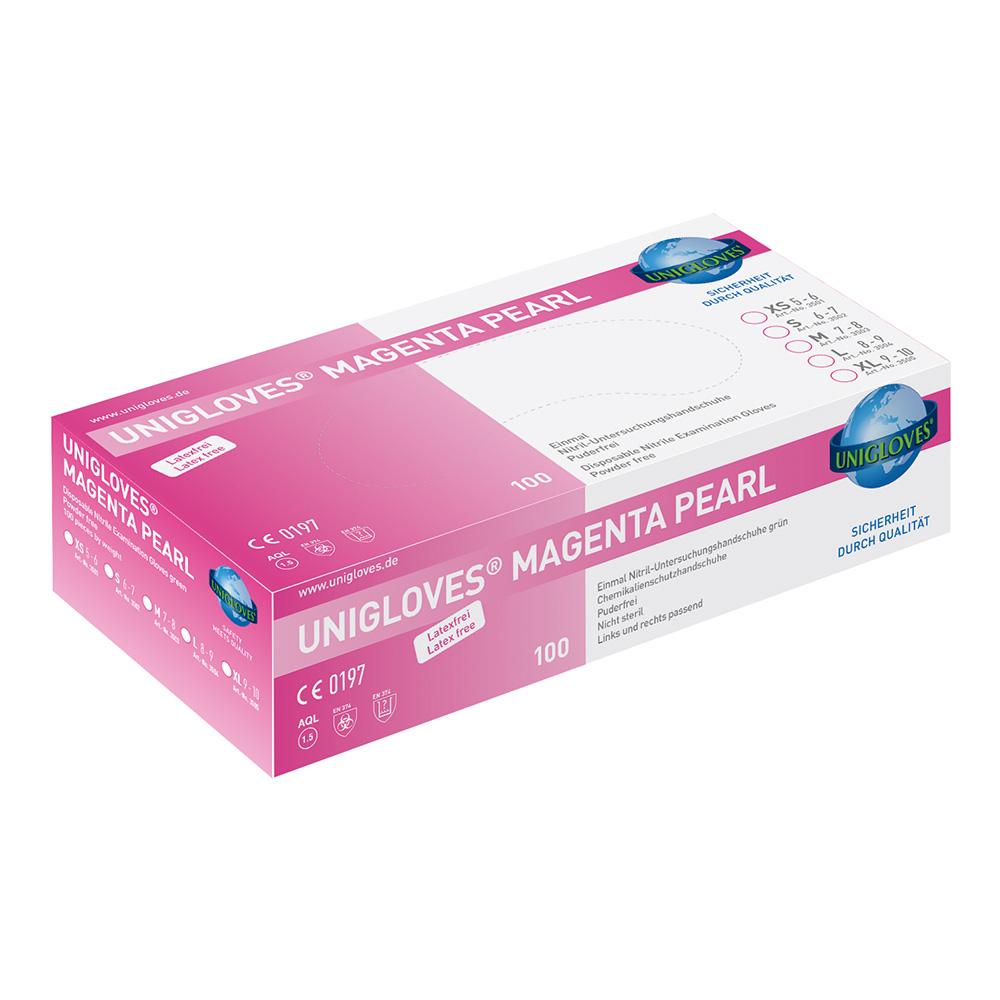 Unigloves Magenta Pearl | Nitrilhandschuhe | 100 Stück | Größe L