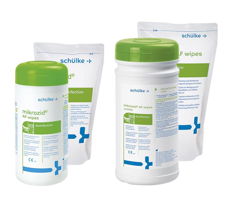 Mikrozid AF Wipes | Alkoholische Schnelldesinfektion | Dose (14x18, 150 Tücher) | Desinfektionstücher