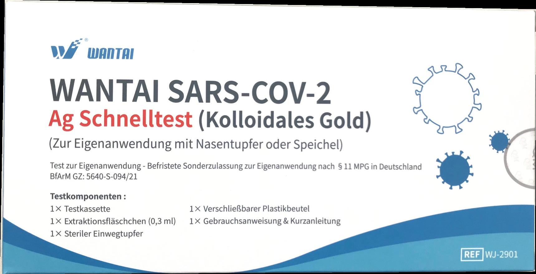 WANTAI SARS-COV-2 Schnelltest zur Eigenanwendung(einzeln verpackt)