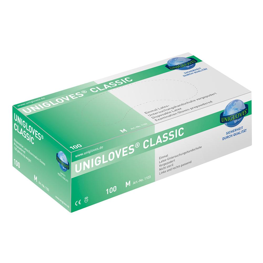 Unigloves Classic | Latexhandschuhe | 100 Stück | Größe S