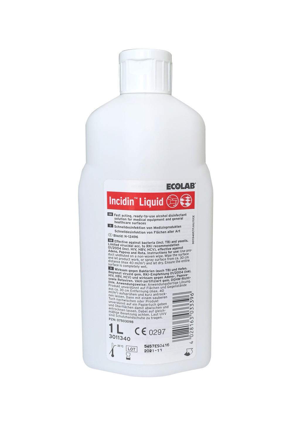 Incidin Liquid   Schnelldesinfektion für Flächen   1 l
