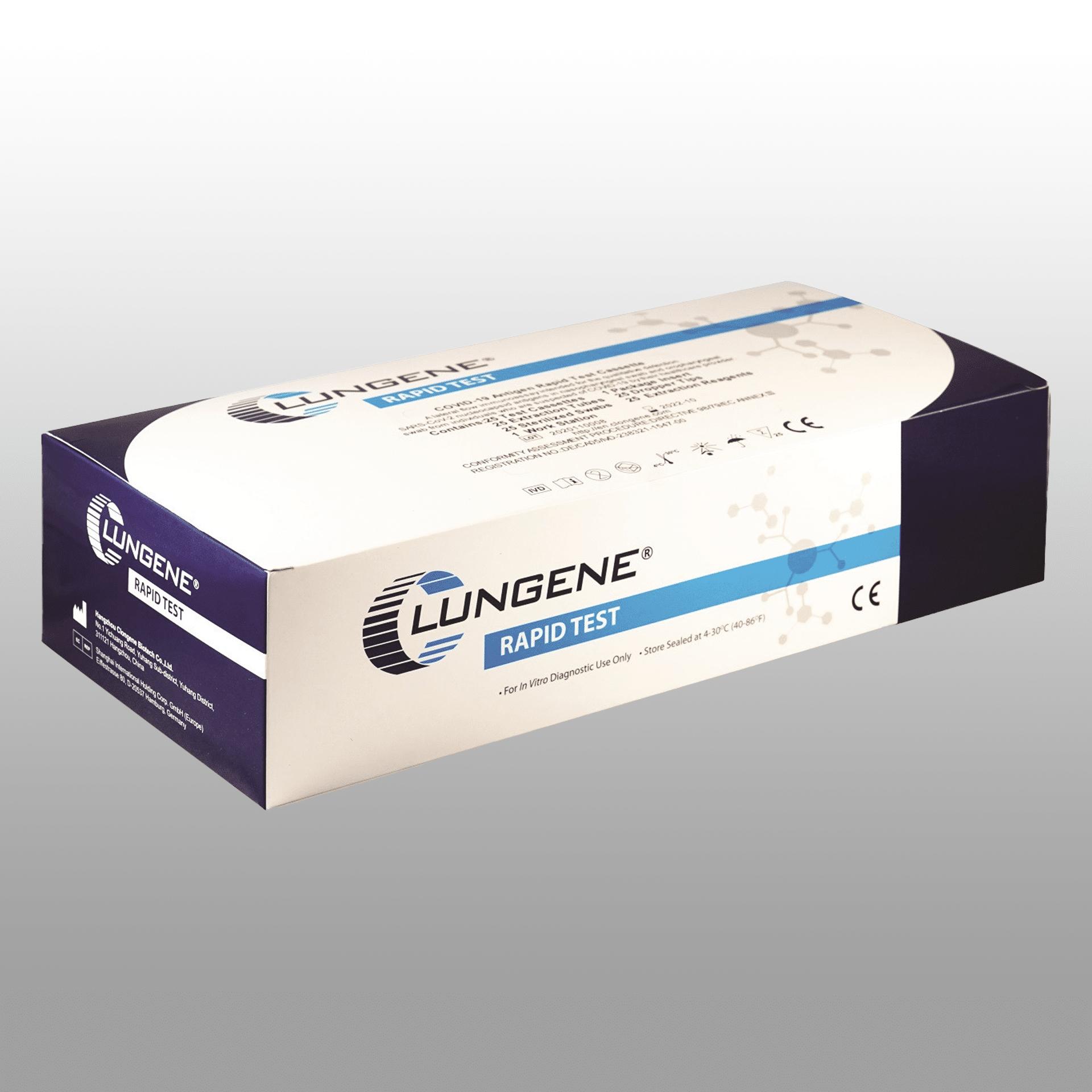 Clungene COVID Antigen Schnelltest Professional (25er Packung)